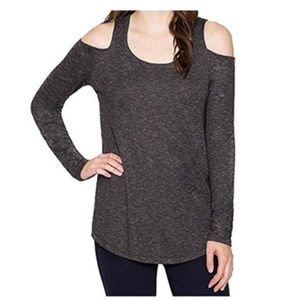 Matty M Women's Top Cold Shoulder Long Sleeve Top